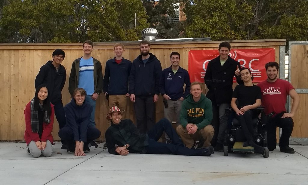 Group photo of the Cal Poly Amateur Radio Club members